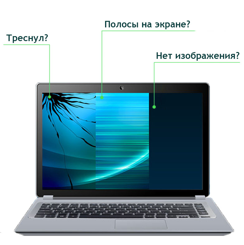 Повреждения экрана