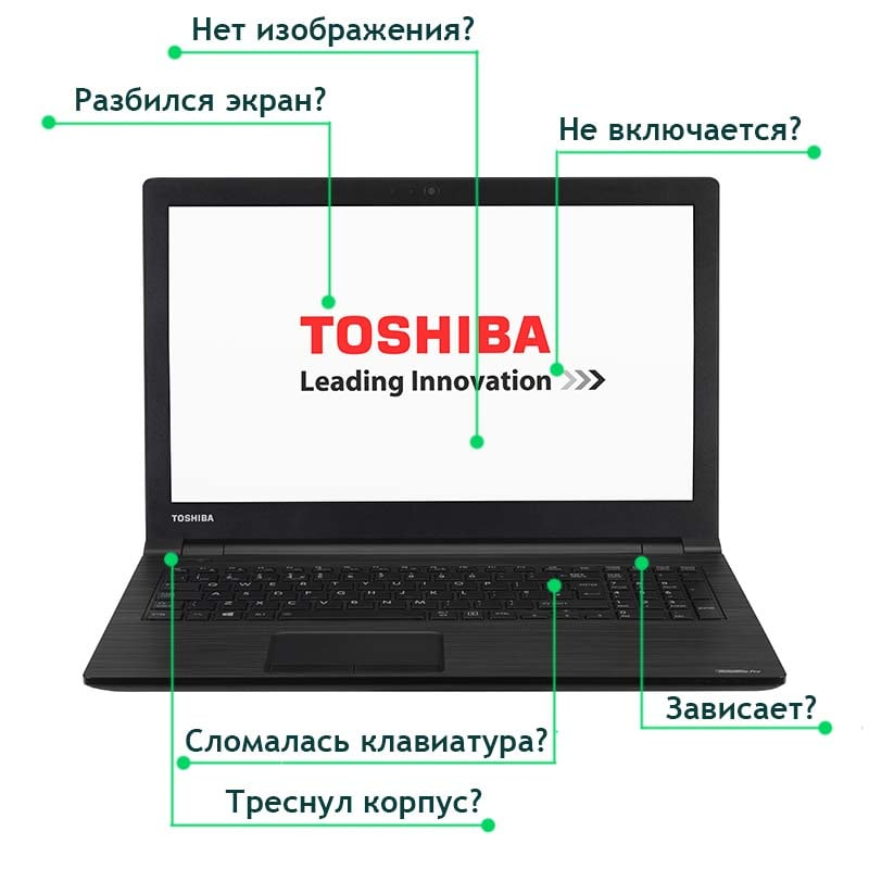 Ремонт ноутбуков тошиба в Минске